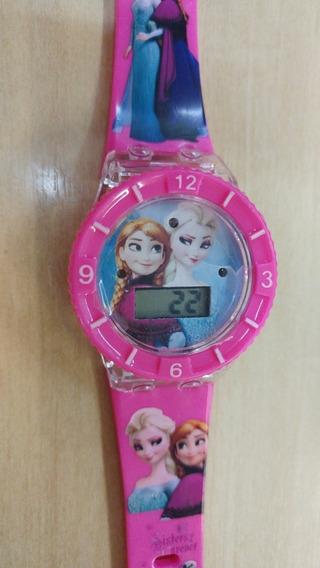 Relógio Infantil Frozen Com Música E Led