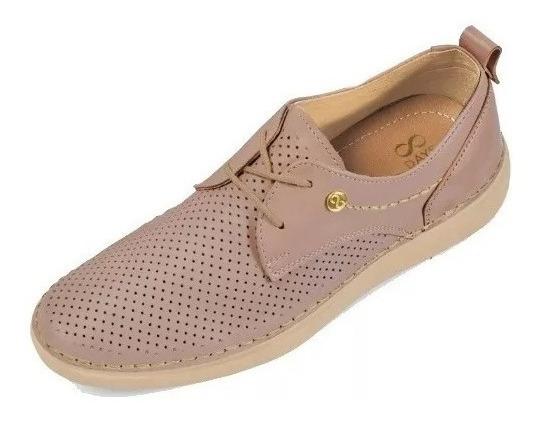 Calzado Zapato Casual Dama Mujer Comodo Confort Piel Maquill