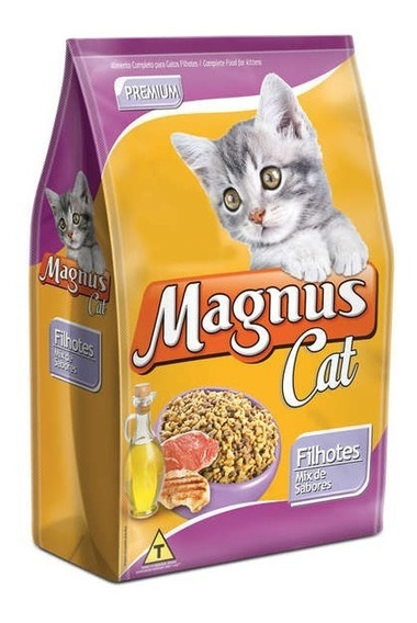 Ração Magnus Cat Premium Filhotes Mix De Sabores - 15 Kg