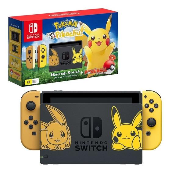 Consola Nintendo Switch Pokémon Lets Go, Pikachu+ball