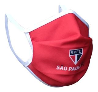 Máscara De Proteção Do São Paulo Com Elástico Kit Com 4 Unid