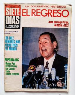 Revista Siete Días 25 De Junio De 1976 El Regreso De Perón