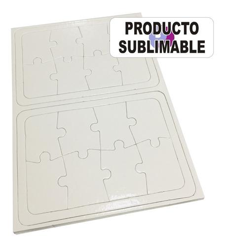 10 Rompecabezas Carton 8 Pzs Sublimacion Sublimable 20x14cm