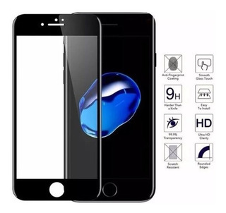 Pelicula De Vidro Temperado 3d iPhone 8 Preta
