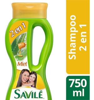 Shampoo Savilé 2 En 1 Pulpa De Sábila Y Miel 750 Ml