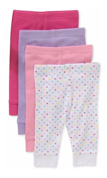 Set De 4 Pantalones Garanimals P/niñas 0-6 Meses