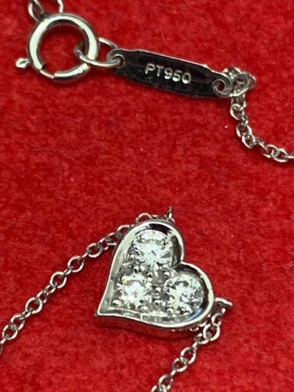 Collar Tiffany Diamante Platino Divino Impecable Sub