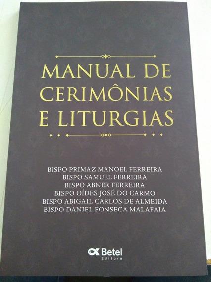 Manual De Cerimônias E Liturgias Editora Betel