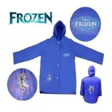 Capa De Chuva Infantil Frozen Disney - P Com Capuz + Brinde