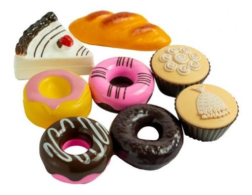 Imagen 1 de 4 de Juego De Comida Donas Tortas Muffin 8 Piezas Juego Niños