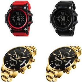 Kit 2 Relógios Skmei1384+nibosi2309 Masculino De Luxo Milita