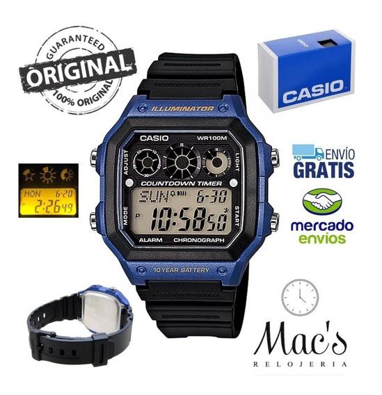 Relojes Casio Ae1300wh 5 Alarmas-resistente Al Agua Original