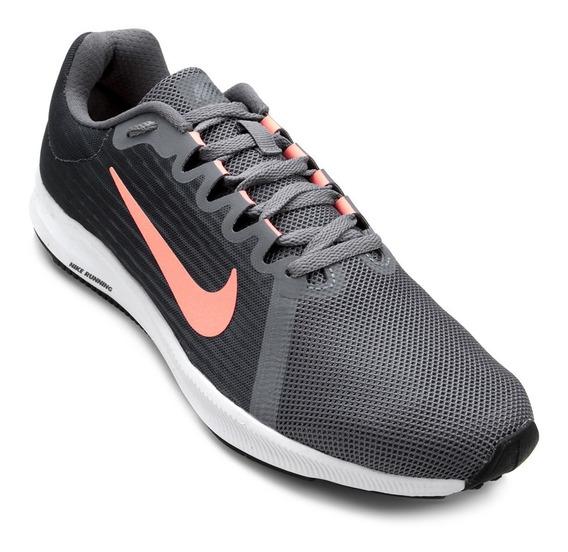 Tênis Nike Downshifter 8 Feminino Cinza Original + Nf