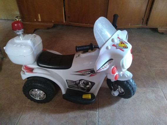 Moto 3 Ruedas A Bateria Niño 6v Policia Love 3006