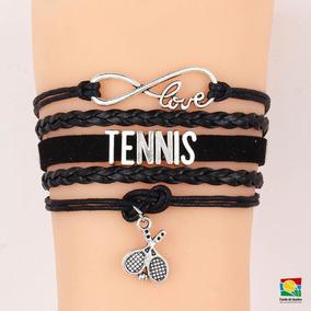 Pulseira Trançada Infinity Love Tennis Preta