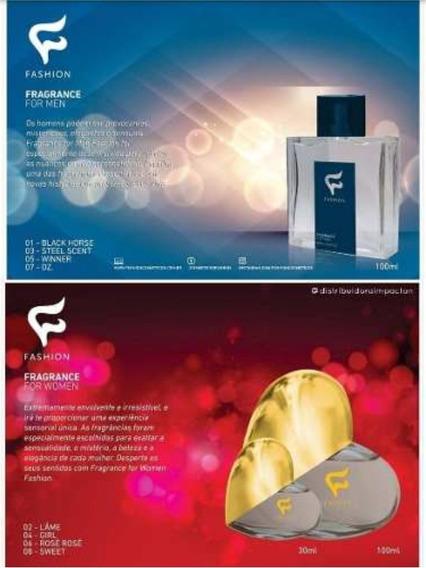 12 Perfumes Fashion Masculino + 6 Perfumes Fashion Feminino