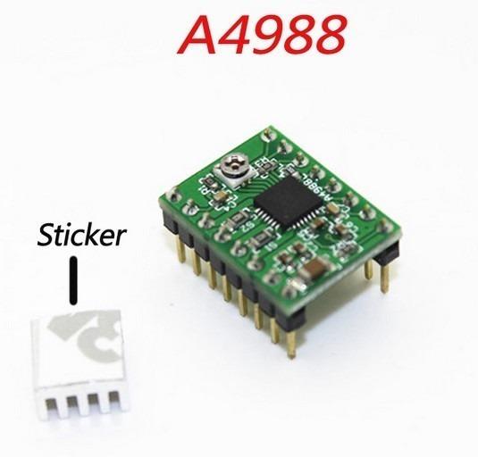 4 X Driver A4988 C/ Dissipador De Calor Impressora 3d Cnc