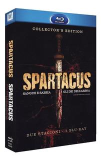 Blu Ray Spartacus Deuses Da Arena E Sangue E Areia - Lacrado