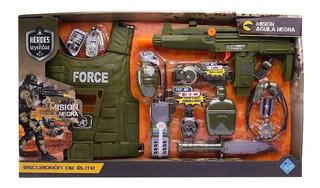 El Duende Azul Set Arma Militar Escuadron Elite Gde Jlt 6478