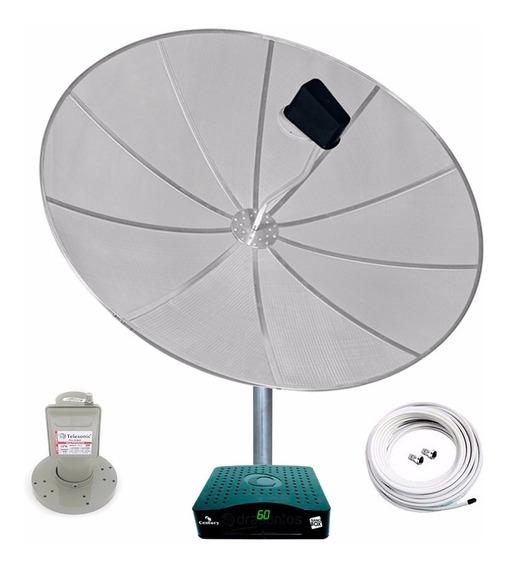 Antena Parabólica 1,70 Multiponto Receptor Century Analógico