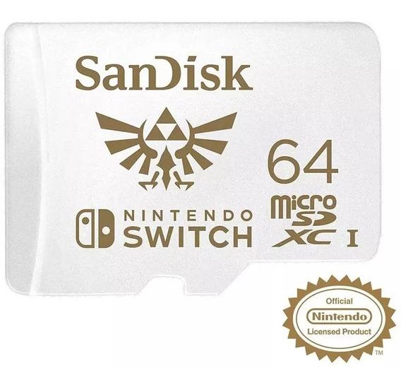 Cartão De Memória Sandisk Nitendo Switch 64 Gb Original