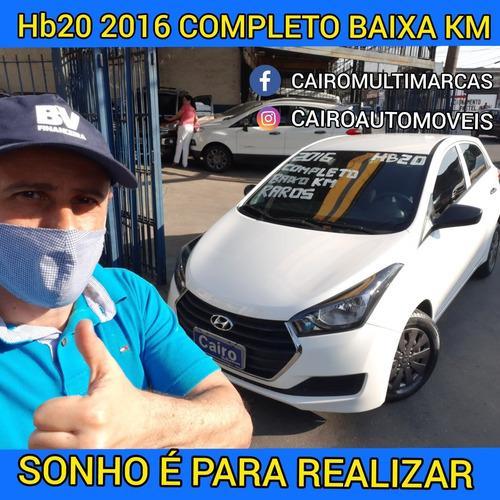 Hb20 2016 Branco Confort Flex Completo Baixa Km Vermelho Ar