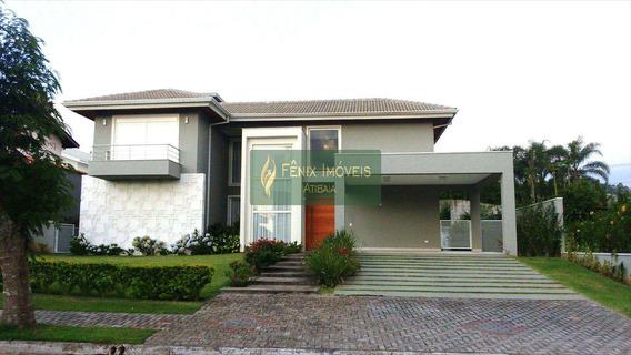 Sobrado Em Condomínio, Porto Atibaia - Área Total 829 M² - V128