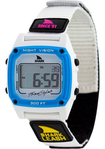 Relógio Freestyle Shark Leash Neon Night - Velcro Importado