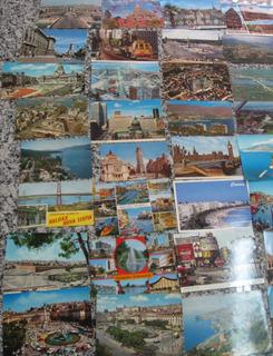33 Cartões Postais De Cidades Estrangeiras !!!