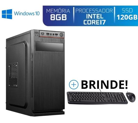 Computador Core I7 8gb Ssd120 Win10 Ta Barato