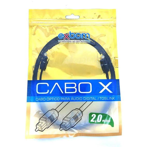 Cabo Áudio Digital Óptico Toslink P/ Ps4 Xbox One Receivers