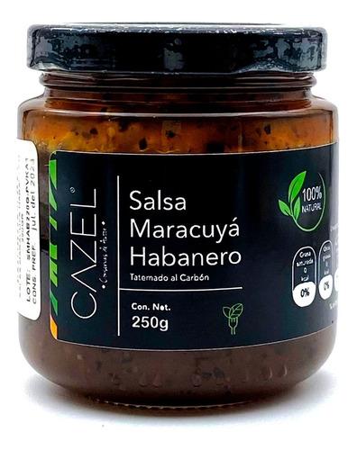Imagen 1 de 6 de Salsa De Maracuya Con Habanero Picante 220g