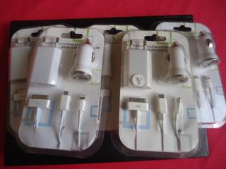 5 Carregador Parede/carro Celular 3g 4g iPad iPod