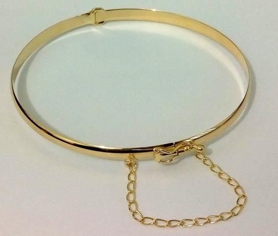 Bracelete De Ouro Com Pega Ladrão Correntinha