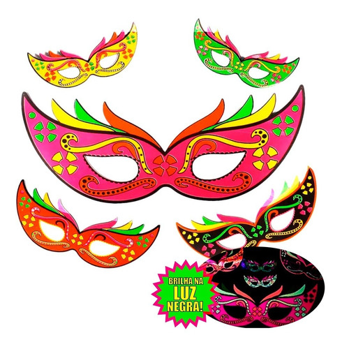Painel Mascara Carnaval Neon
