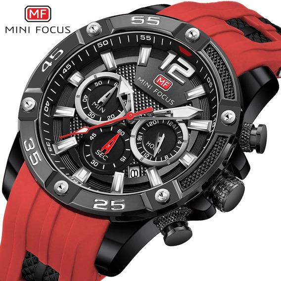 Relógio Masculino Mini Focus Esportivo Original Promoção