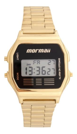 Relógio Digital Mormaii Mojh02ab/4p Dourado Retro Classic