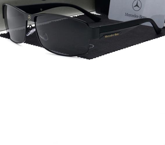 Óculos De Sol Masculino Polarizado Mercedes Benz 48 Uv400
