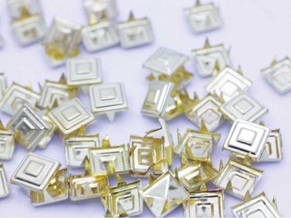 Estoperol 5mm,8mm,10mm Dorados Cuadrado Por 1 Millar