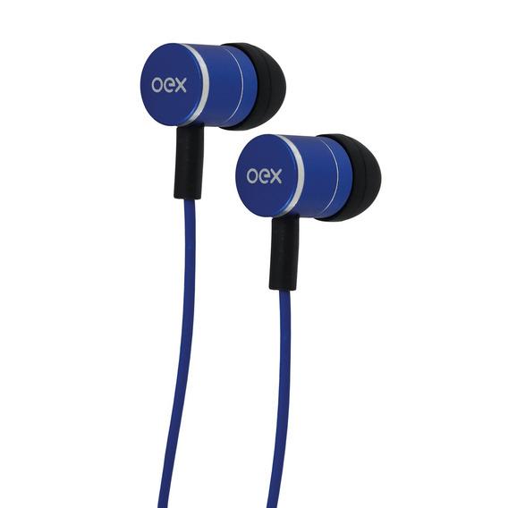 Fone Ouvido Microfone Fleet Intra Auricular Azul Fn404 Oex