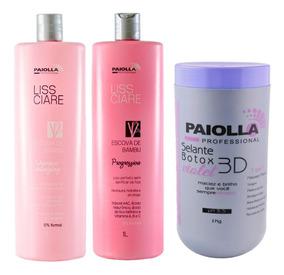 Kit Progressiva Bambu Paiolla 2x1000ml + Botox Violet 1kg