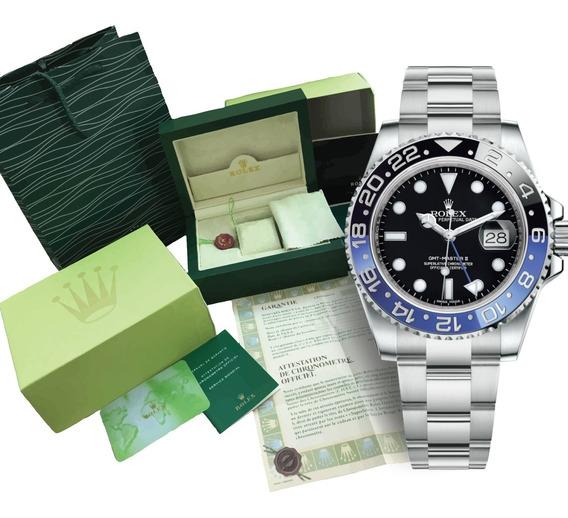 Reloj Rolex Gmt Máster 2 Ii Batman Automático Con Caja