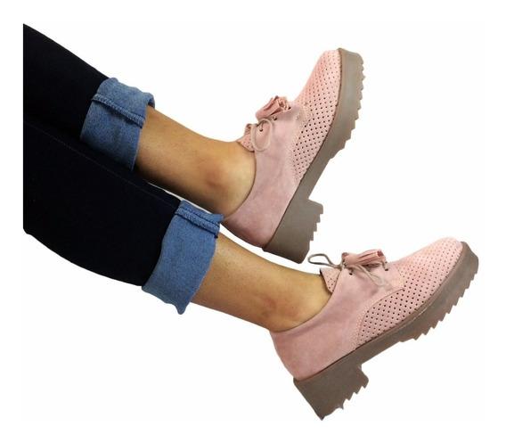Zapatos Perforados - Mujer - Rosa/verde/ Azul+ Envío Gratis