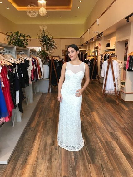 Vestido Novia Al Cuerpo Blanco Talle Grande Moda Pasion