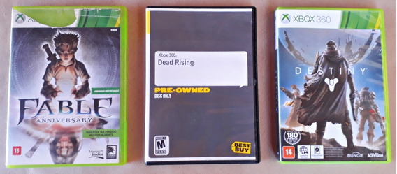 Lote Kit Jogos Xbox 360 Destiny Dead Risi Fable Frete Grátis