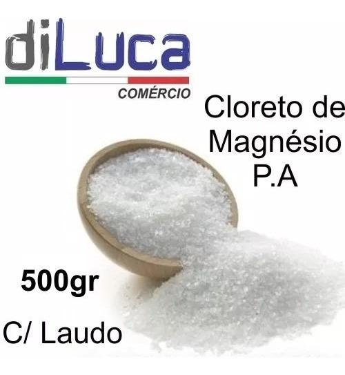 Cloreto De Magnésio Pa Laudo Fabricante 500 Gramas