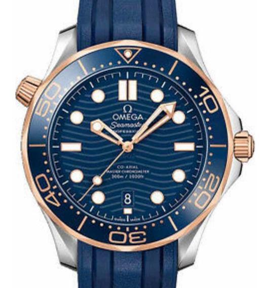 Ômega Seamaster Diver Master Chronometer Co-axial Ouro Sedna