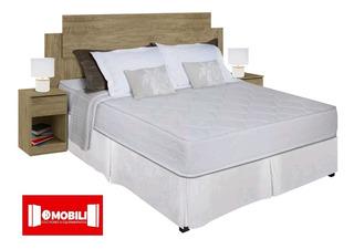 Juego Dormitorio Somier Sommier D100 2 Dos Plazas + Respaldo