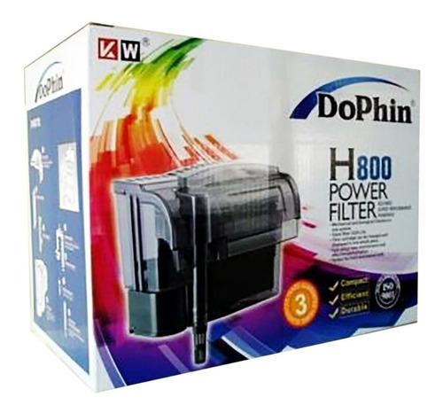 1020 L/h Filtro Cascada Dophin H800 Acuario Silencioso