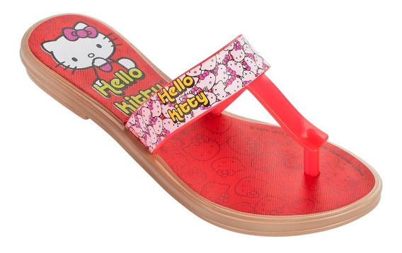 Ojotas Hello Kitty Niña Rasteiro Todo Módulo De 12 Pares